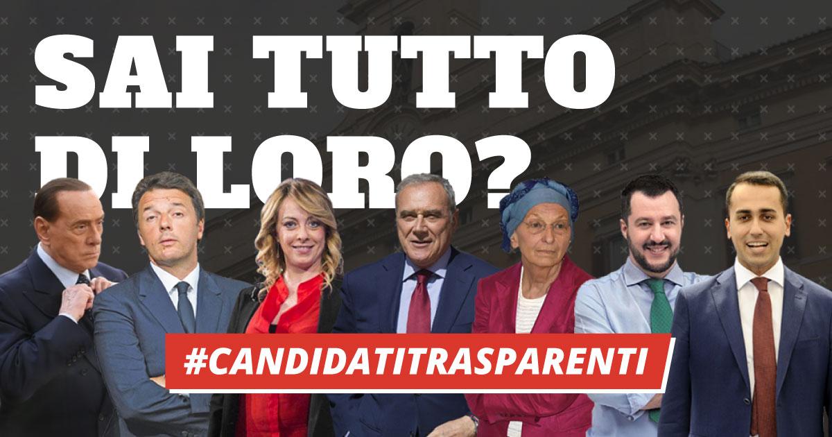 elezioni 2018 candidati trasparenti