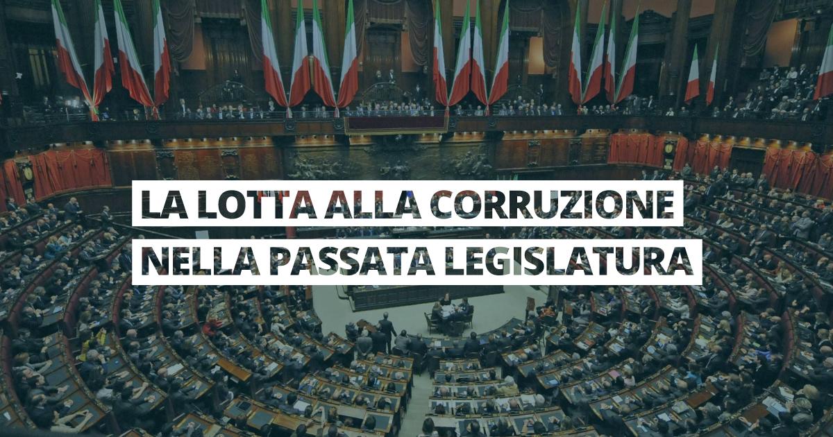 lotta alla corruzione scorsa legislatura