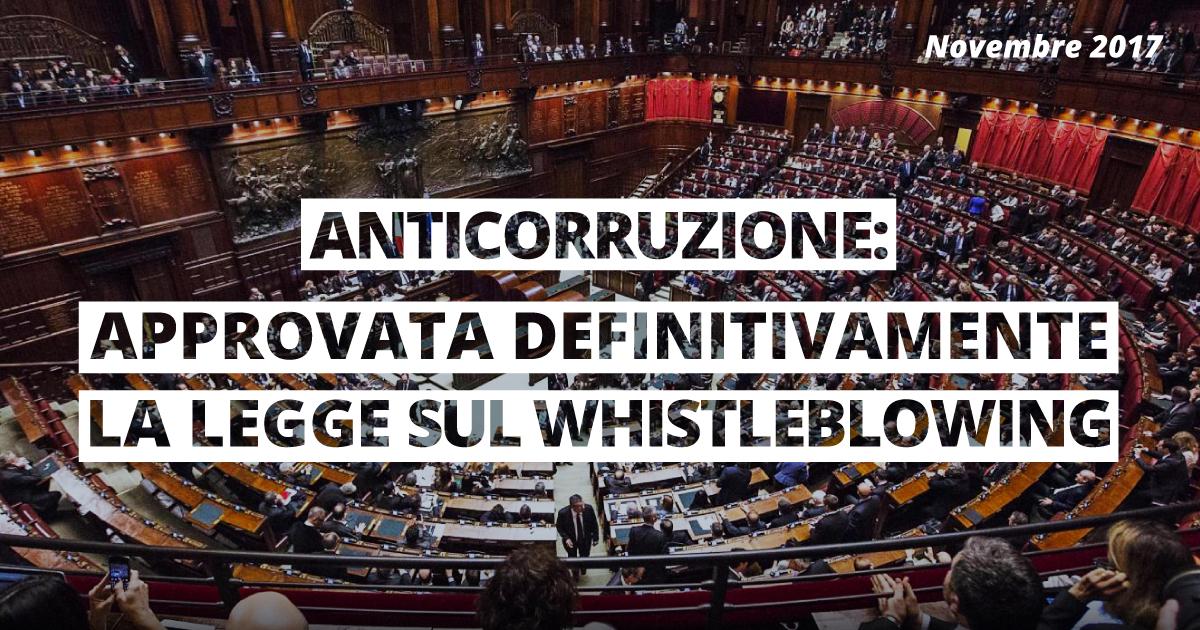 anticorruzione Whistleblowing approvato